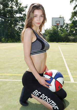 Fit tender Milla undress her ultimate firm breasts and play with her ball nude