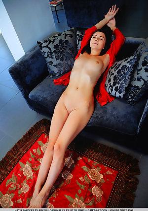 Hayli Sanders nude in erotic LACE ROBE gallery