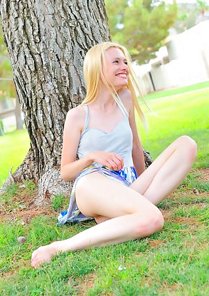 Very flimsy blondhaired girlie Kennedy gets completely nude in public