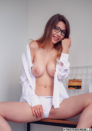 Mila Azul reads my diary and wears my shirt