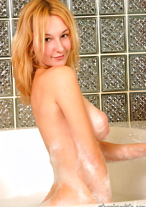 Misty gets her big tits really soapy