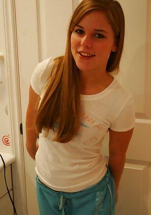 Sad teen poses in her pjs