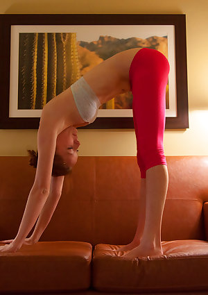 Redhead Kimmy Diedrick is insanely flexible and stunningly fit